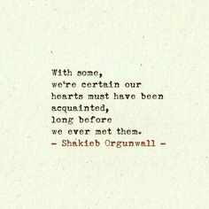 Hearts acquainted