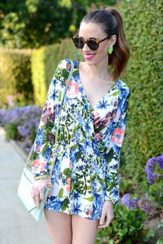 Nothing says summer quite like a floral print romper.