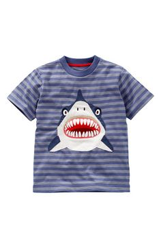 Mini Boden 'Danger' Appliqué T-Shirt  #danger    It's not okay to start buying kids clothes, right?