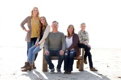 Family photography.  White out the background for dramatics.