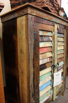 Reclaimed furniture is famous for its colors.