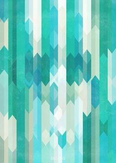 Art Patterns Inspiration: Teal Lines