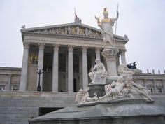 Outside the Vienna, Austria Parliament Building I believe ~ T.J.