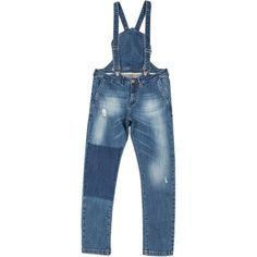 Plumsika Womens Plus-Size Distressed Full Length Bib Denim Overalls ($40) ❤ liked on Polyvore featuring jumpsuits, plus size jumpsuits, plus size overall, plus size womens overalls, plus size overalls and blue denim overalls