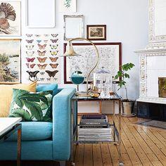 """""""Vårkänslor! Tänk vad lite färg kan göra. Tjusigt hem i Lund. I senaste Rum Hemma så klart! #tidningenrumhemma #rumhemma #inredning #design #inspiration"""""""