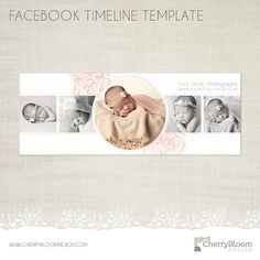 Facebook Timeline Template for Photographers by CherryBloomDesign on Etsy, $5.00