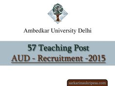 Ambedjar-University-Delhi-Recruitment