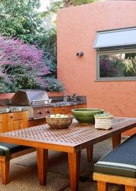 My dream house outdoor kitchen. Small and cozy.