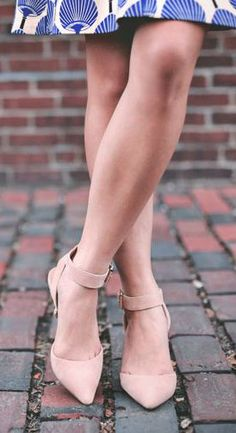 suede mid heels, love color and heel height. Perfect for work.