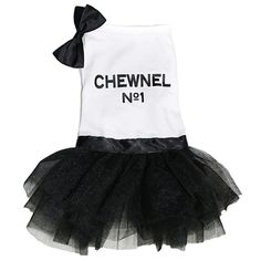 Inspired from designer couture, this sophisticated dog tutu dress features a triple layer tutu
