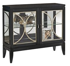 Black Granite Curio Cabinet by Accentrics Home by Pulaski | The Decorating Diva, LLC