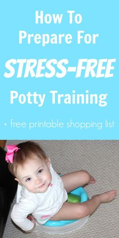 Stress Free Potty Training Tips + Printable Potty Training Shopping List www.weheartparties.com #CtnlCareRoutine #pmedia
