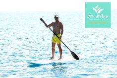 This is how we ride off into the sunset. #VillaDelArco #LosCabos #Paddleboard #VillaGroupResorts