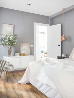 Gorgeous grey bedrooms that will make you want to paint with regard to white and grey: bedroom inspiration