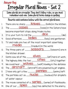 Irregular Plural Nouns Worksheet Bundle by LearnersoftheWorld | TpT