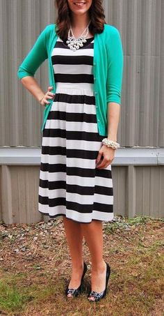 Can t wear horizontal stripes with my shape but love the idea of a bold  print with a bright sweater fe8a30a2e