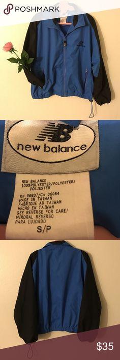 EUC New Balance Zip Up Windbreaker Size S Blue New Balance Zip Up Windbreaker. Size S. Black and Blue. Embroidered Logo at Left Chest. EUC. No Flaw. #newbalance #spring #summer #fall #athletic #sporty #retro #vintage New Balance Jackets & Coats