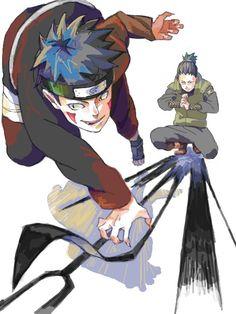Kiba and Shikamaru would make a cool team