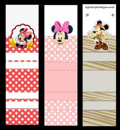Minnie Mouse: Free Printable Original Nuggets or Gum Wrappers.
