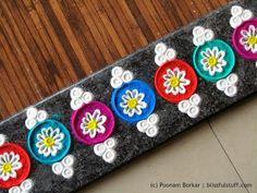 Beautiful multicolored border rangoli | Creative rangoli designs by Poonam Borkar - YouTube