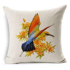 2015 hand-painted cushion car covers flowers pillowcases decorative pillows cover countryside fresh cotton linen cushion sofa