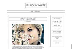 Great blog theme- Minimal Wordpress Responsive Theme Black and White Modern Blog Theme