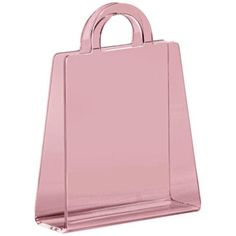 Zuo Purse Transparent Pink Modern Magazine Rack - this is pretty Modern Magazine Racks, Acrylic Furniture, Outdoor Wicker Furniture, Pink Home Decor, Magazine Holders, Bag Storage, Women's Accessories, Purses, Contemporary