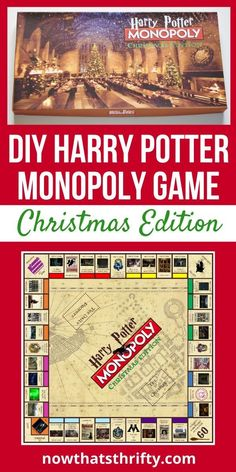 DIY Harry Potter Monopoly Game Christmas Edition Are you looking for a fun DIY Harry Potter gift? This DIY Harry Potter Monopoly game with printables is the perfect gift. Harry Potter Board Game, Harry Potter Monopoly, Décoration Harry Potter, Harry Potter Friends, Monopoly Game, Monopoly Cards, Harry Potter Presents, Harry Potter Halloween, Harry Potter Christmas