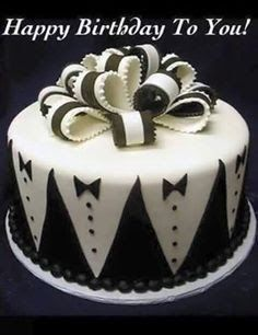 Beautiful Cake Pictures: Black And White Little Groom's Cake - Black & White Cakes, Little Cakes, Themed Cakes, Wedding Cakes - Beautiful Wedding Cakes, Beautiful Cakes, Amazing Cakes, Cake Wedding, Cake Cookies, Cupcake Cakes, Food Cakes, Rodjendanske Torte, Foto Pastel