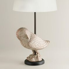 One of my favorite discoveries at WorldMarket.com: Snow Owl Table Lamp Base