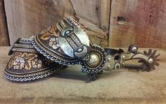 Stunning leather spur straps from master craftsman Denice Langley
