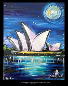 Sydney Australia Opera House Painting - Jackie Schon, The Paint Bar