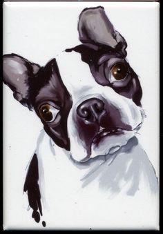 Boston terrier cute magnet by rubenacker on Etsy, $4.25