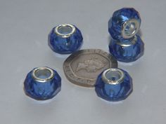 14mm Acrylic Beads - large hole for European Charm Bracelets Pack of 5 - CBM6
