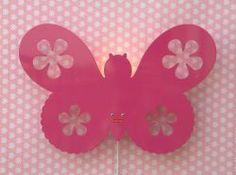 Roommate Wandleuchte Butterfly Pink