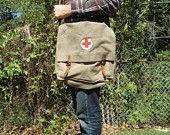 Vintage Swiss Medic's Bag (Messenger Bag)