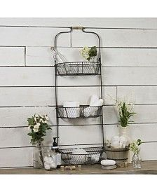 Our Metal Triple Wall Basket doesn't sacrifice style for your organizational needs! It's perfect for storing fruit in the kitchen or hand towels in the bath. Hanging Wall Baskets, Metal Baskets, Wall Organization, Wall Storage, Wall Shelving, Storing Fruit, Home Office Lighting, Outdoor Lounge Furniture, Vintage Farmhouse