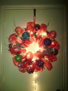 Christmas Wreath .. with lights