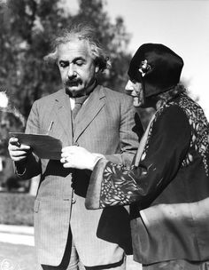 Albert Einstein with Elsa Einstein -- Photo 8x10 | eBay
