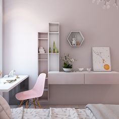 A Simple, Modern Apartment in Moscow - Home Design Kids Room Design, Home Design, Interior Design, Design Ideas, Small Room Bedroom, Bedroom Decor, Ikea Teen Bedroom, Teen Rooms, Girl Rooms