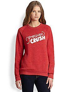 Rachel Antonoff - 'Forever Crush' Printed Cotton Sweatshirt