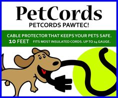 PetCords Dog and Cat Cord Protector- Protects Your Pets From Chewing Through Insulated Cables up to 10ft, Unscented, Odorless * Discover this special cat product, click the image : Cat Supplies