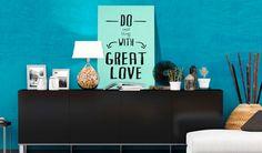 Metall Posters mit Sprüchen und Zitaten sind eine einzigartige Deko-Idee fürs moderne Büro  #wanddekoration #wanddeko #homedecor #home #spruch #zitat #blechschild #metall-poster #büro #homeoffice #bimago