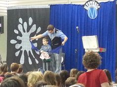 """What a great French performance by the """"Math-gicien"""" Mystéric.  The kids had fun!"""