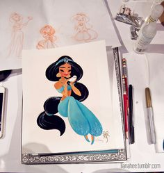 Jasmine- Live Performance Painting by Liana Hee