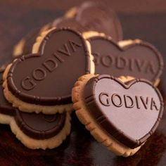 Godiva chocolate truffle biscuits.