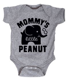Another great find on #zulily! Athletic Heather 'Mommy's Little Peanut' Bodysuit - Infant by LC Trendz #zulilyfinds