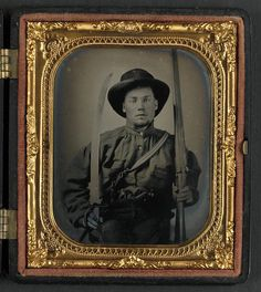 The Civil War Parlor           - Unidentified soldier in Confederate uniform with...