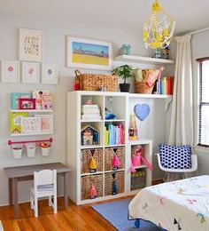 Such a bright, creative space for a little girl, huh?