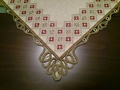 Beaded Embroidery, Embroidery Designs, Point Lace, Cross Stitch Borders, Bargello, Blackwork, Needlepoint, Diy And Crafts, Projects To Try